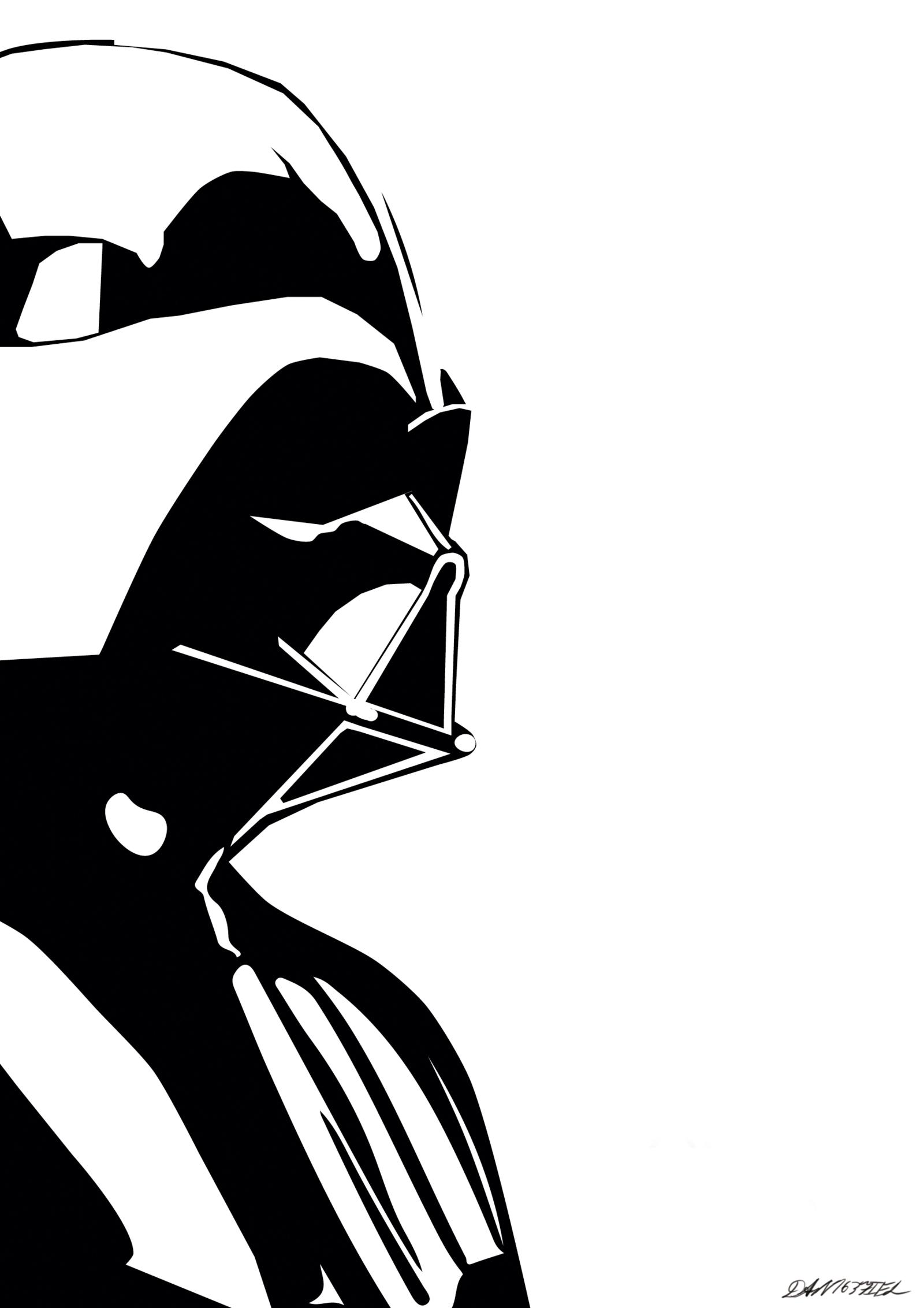 Darth Vader Minimalistic Poster Star Wars Painting Star Wars Silhouette Star Wars Stencil