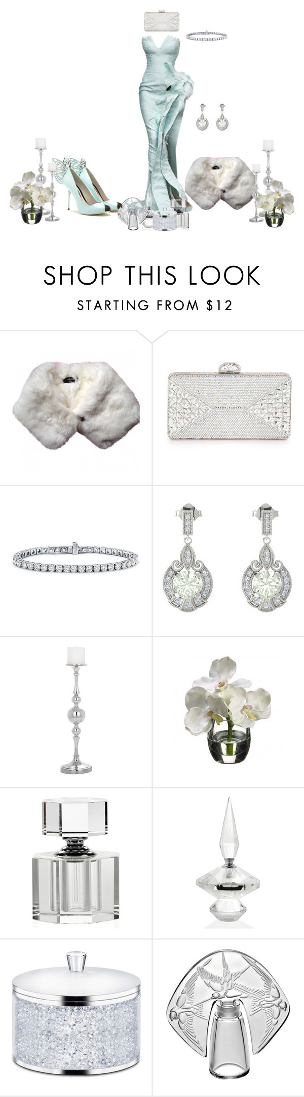 """""""This ol thing? Dahlin' had it for years."""" by shyliekee-791 ❤ liked on Polyvore featuring Chanel, Judith Leiber, Blue Nile, Gemvara, Torre & Tagus, Swarovski and Lalique"""