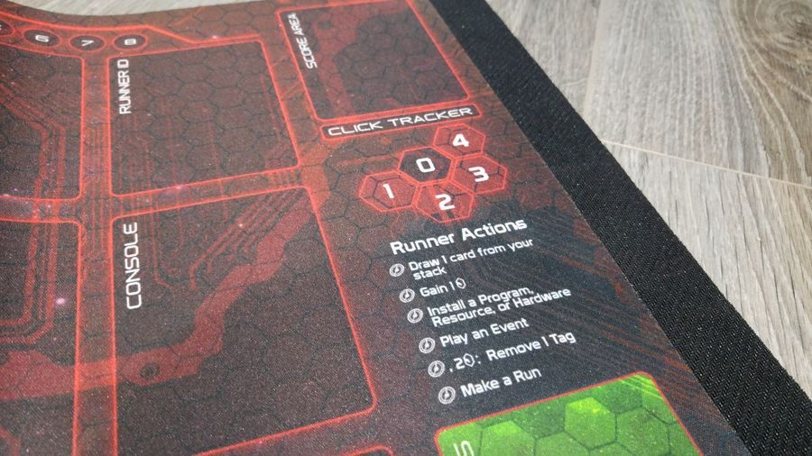 Android Netrunner LCG  Playmats Corp /& Runner NEW 2 mat set Fabric Rubber backed