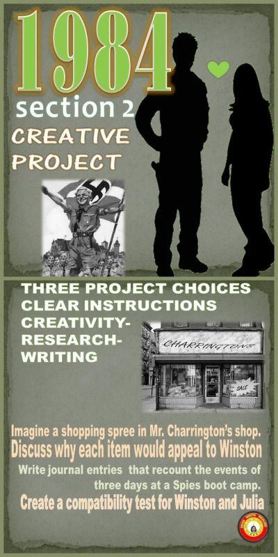 1984 Orwell Creative Highschoolenglish Secondaryela Project Education