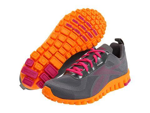 3b594851bf10 Reebok RealFlex Scream Rivet Grey Condensed Pink Maximum Orange ...