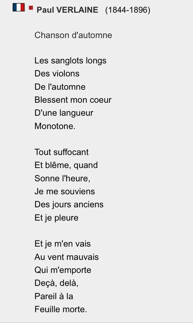 Chanson D Automne Victor Hugo : chanson, automne, victor, Chanson, D'automne,, Verlaine, Automne,, Poeme, Citation,, Poésie, Française