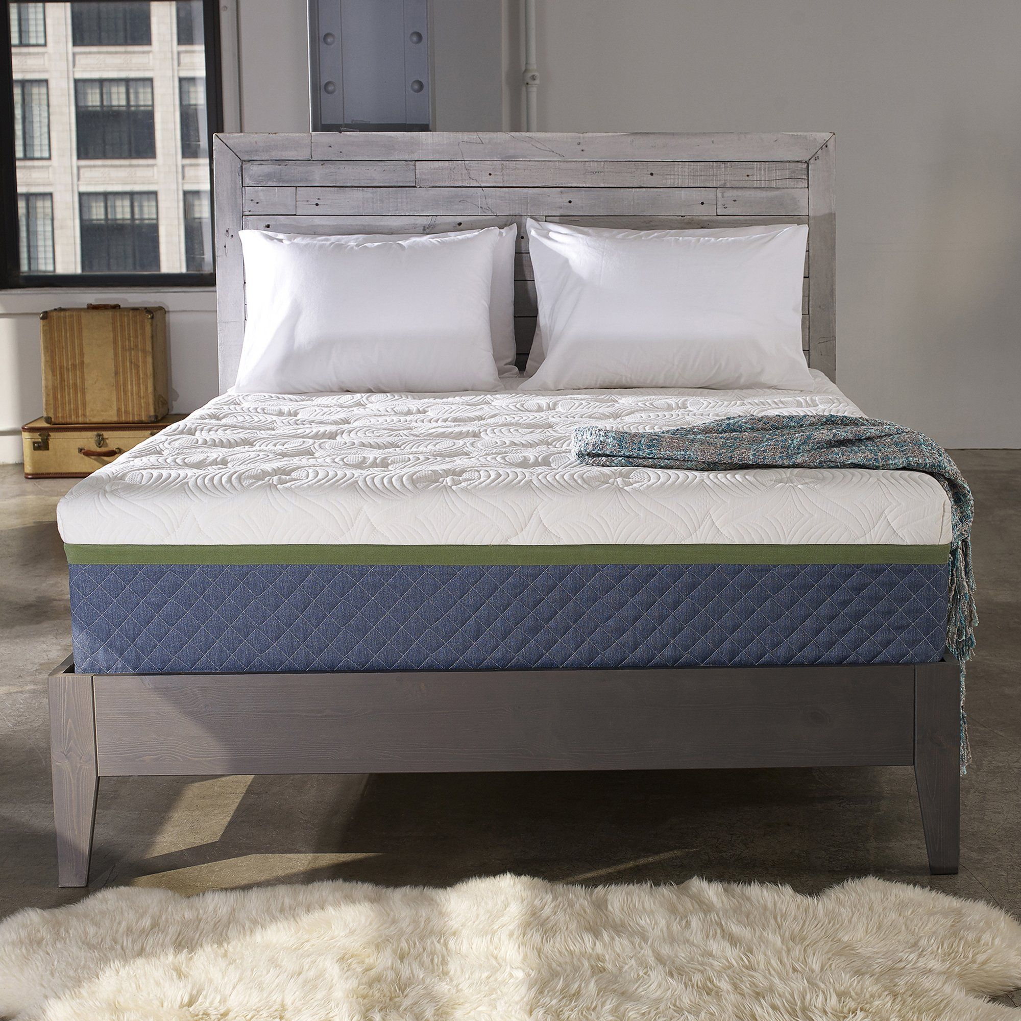 Sleep Innovations Taylor 12inch Cooling Gel Memory Foam Mattress Bed In A Box Made In The Usa 10year Warr In 2020 Box Bed Bed Mattress Memory Foam Memory Foam Mattress