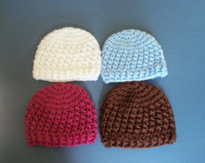 Crochet Beanie Hat, Baby Boy Hat, Baby hat, Crochet Hat With Button #premiebabyhats