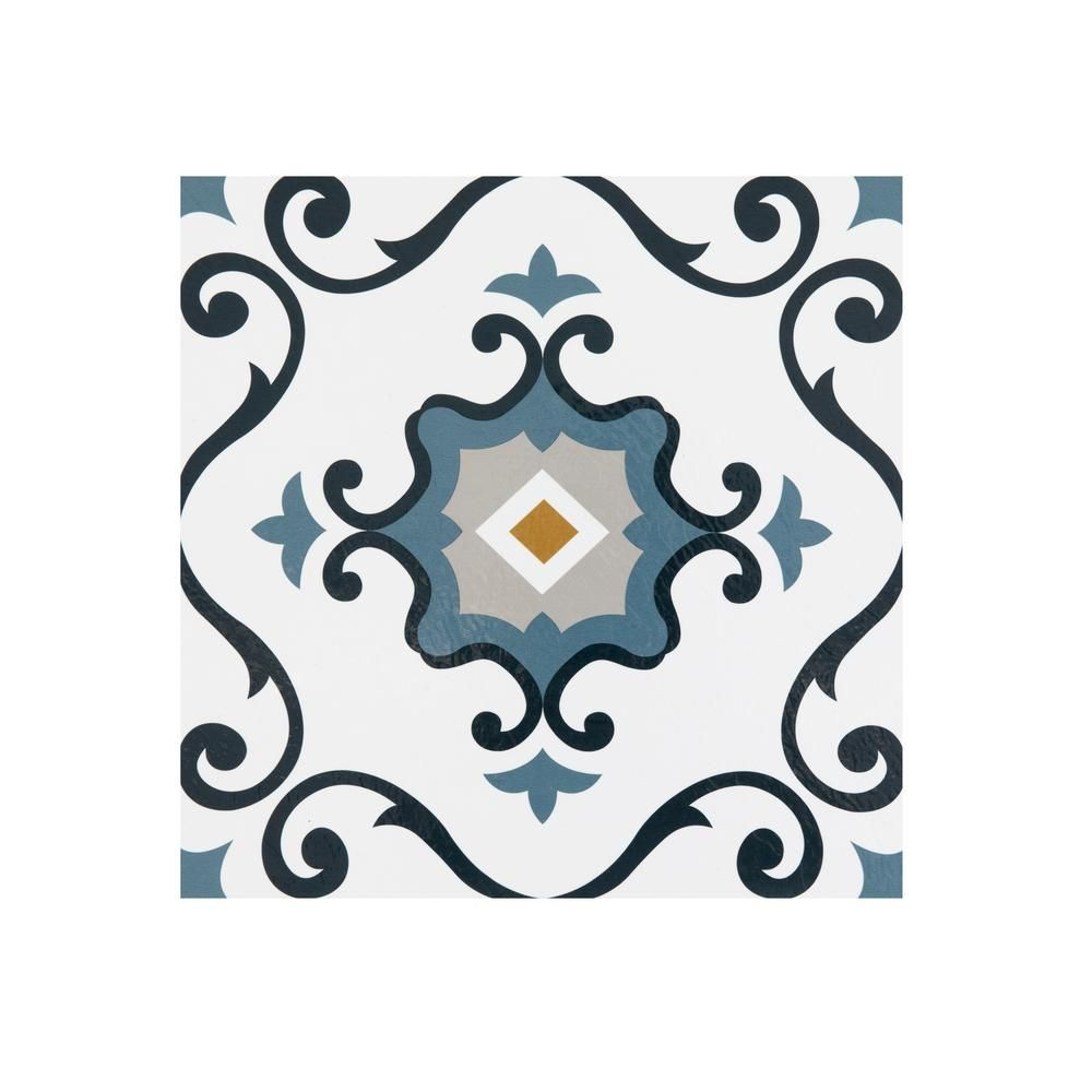 Achim Retro Slate 12 In X 12 In Self Adhesive Vinyl Floor Tile 20 Tiles 20 Sq Ft Rtftv60120 The Home Depot Luxury Vinyl Tile Vinyl Tile Luxury Vinyl