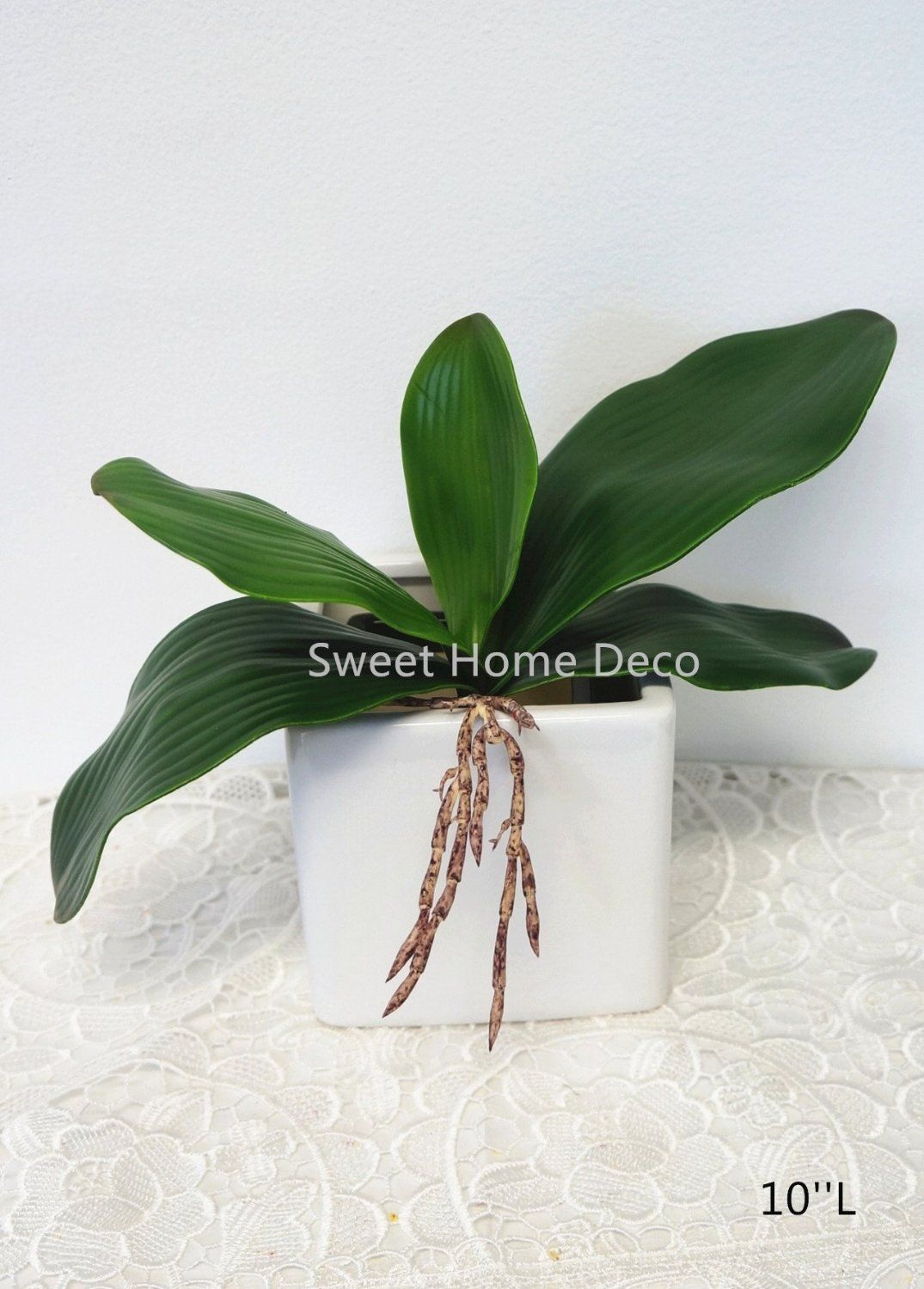 Sweet home deco gel coated phanaenopsis orchid artificial greenery