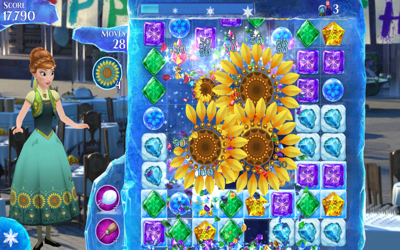 Frozen Free Fall v5.1.0 Mod Apk Hack descargar juegos para
