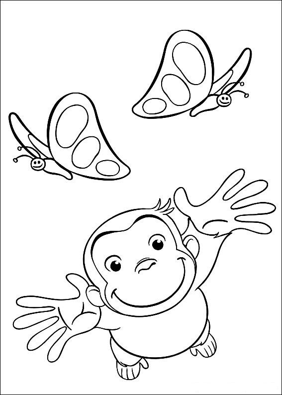curious george coloring pages free curious george coloring pages for kids technosamrat - Curious George Coloring Pages