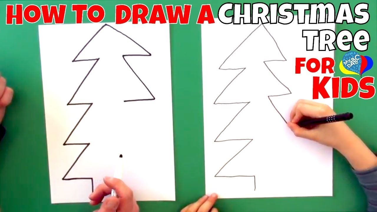 How To Draw A Christmas Tree For Kids - Create for ...