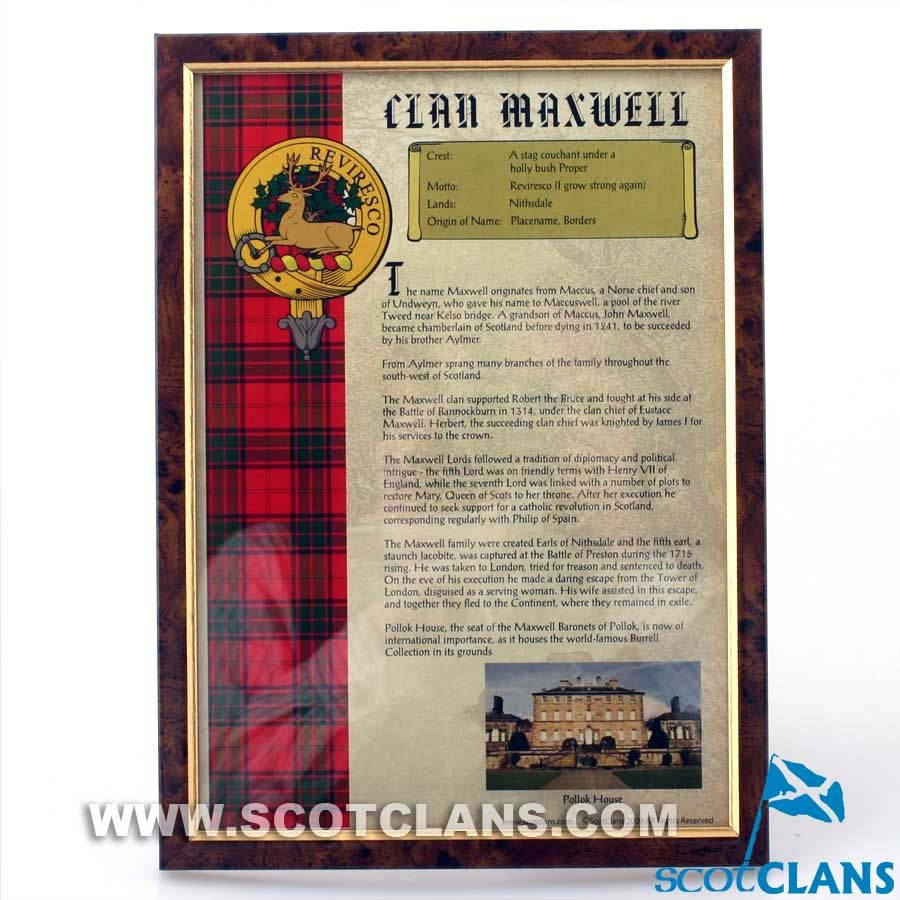MaxWell Clan History Print | Heritage in 2019 | Scottish