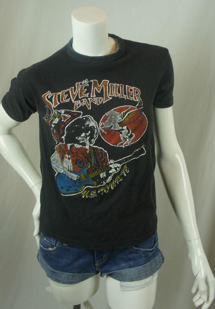 Vintage The Steve Miller Band 1978 U S Tour T Shirt Tee Black Sm