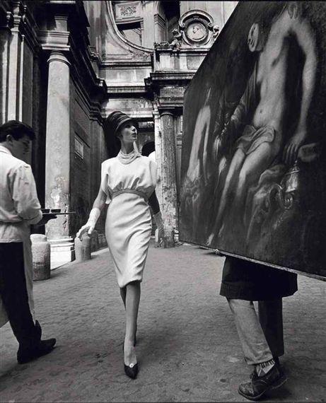 William Klein, Simon + Coffee + Painting, Rome (Vogue), 1960