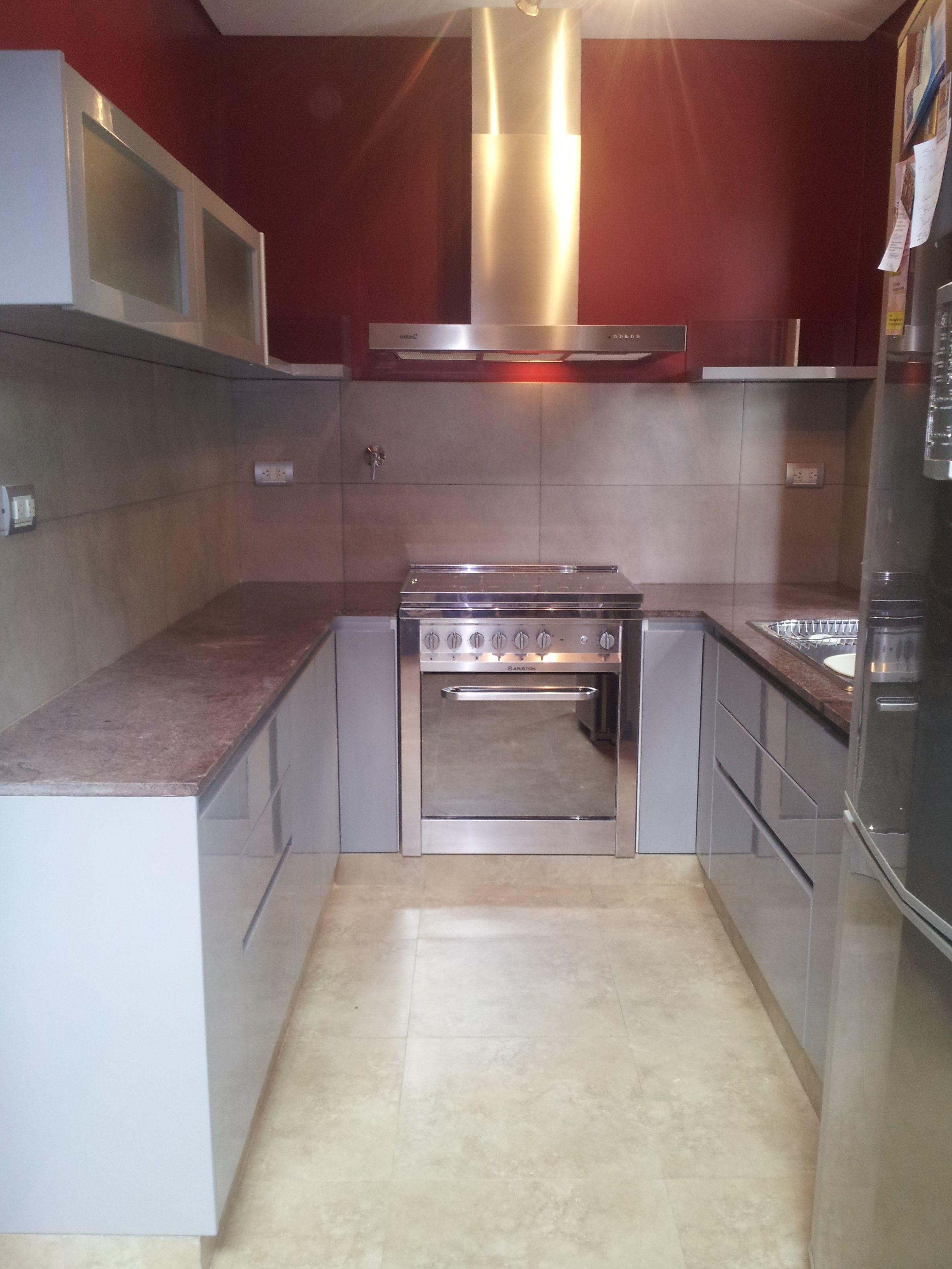 Antes y Después: cocina en el barrio de Flores. El color es el gris ...