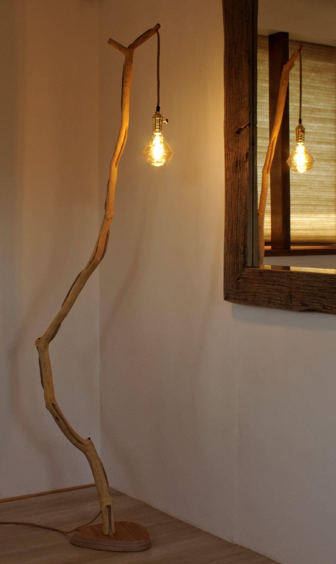 Lampa Podlogowa Lampa Ze Starej Galezi Debowej Lampa Etsy Wood Lamps Diy Floor Lamp Unique Floor Lamps