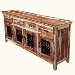 Modern Rustic Dallas Solid Wood Sideboard 4 Door Buffet