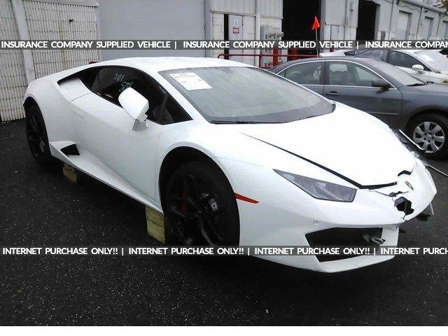 Salvage 2017 Lamborghini Huracan Coupe For Sale Ny 907a Title