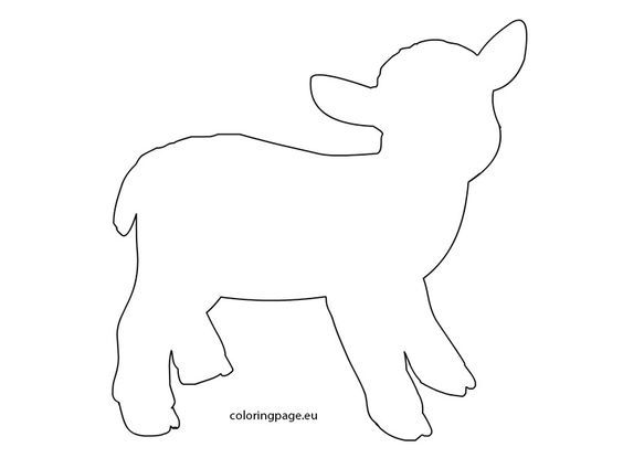 Lamb template | Coloring Page: | EASTER DO | Pinterest | Lambs ...