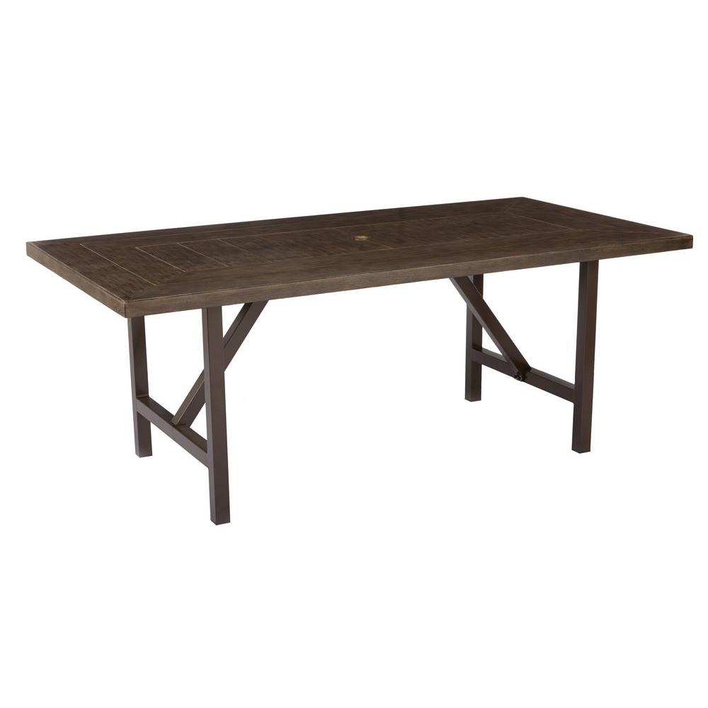 Home Decorators Collection Bolingbrook Metal Rectangular Outdoor Patio  Dining Table