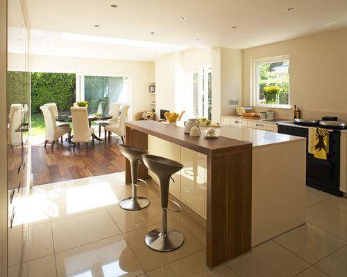 Breakfast bar incorporated in kitchen Kitchen Pinterest