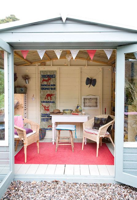 Obviously Not So Girly Office Shed Summer House Interiors