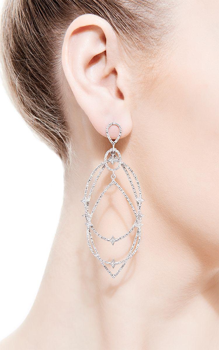 Michelle Earrings by Loree Rodkin for Preorder on Moda Operandi