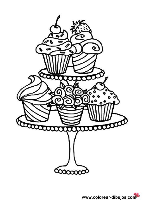 Pastelitos Pastel Dibujo Dibujos Y Torta Dibujo