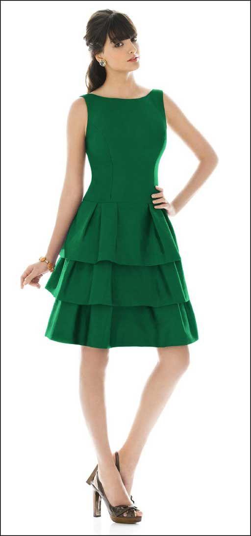 Short Green Wedding Gowns