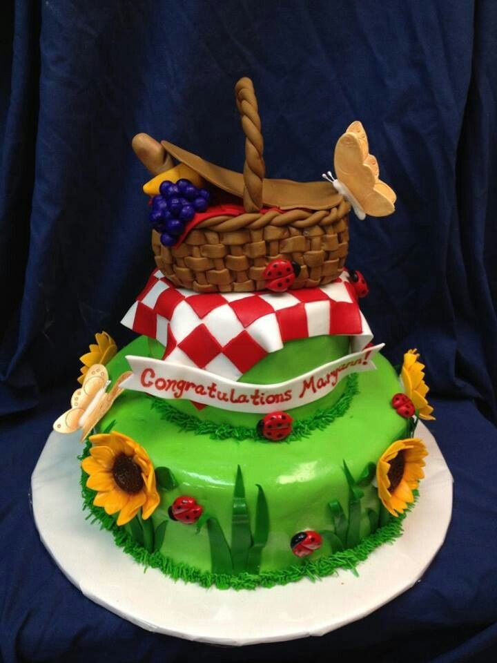 Fall Themed Cakes Picnic Picnic Themed Cake Girls Birthday