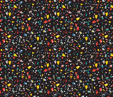 Geometric Modern Memphis Confetti Black 80s fabric by season_of_victory on Spoonflower - custom fabric