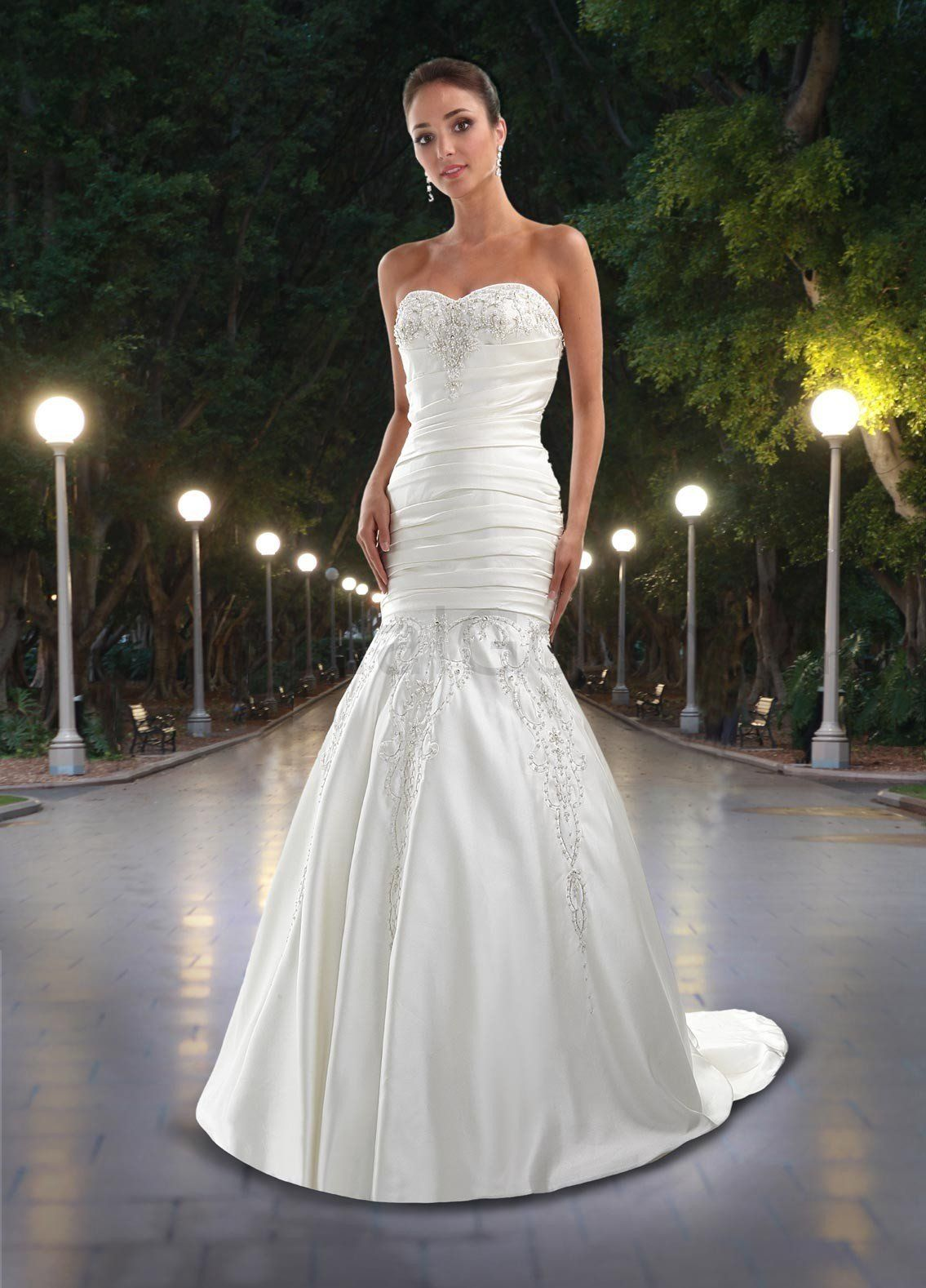 Sexy Mermaid Wedding Dresses | ... Corset Pleated Bodice Wedding ...