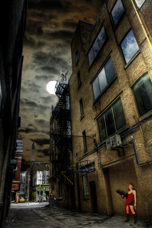 Raccoon City Alley Way By Blueracer66 On Deviantart Resident Evil Game Resident Evil Outbreak City Aesthetic