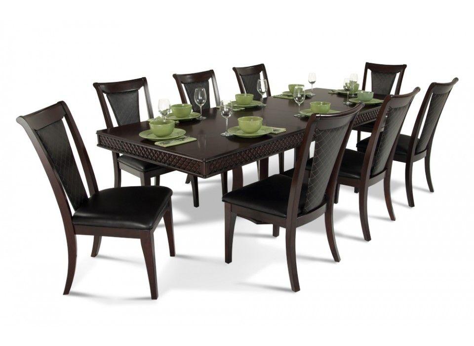 Number 5 9 Piece Dining Set Dining Room Sets Bob S Discount Furniture Dining Set