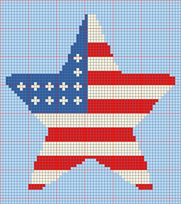 Free Star Flag Afghan Pattern from CitiUSA for Crochet...http://www ...