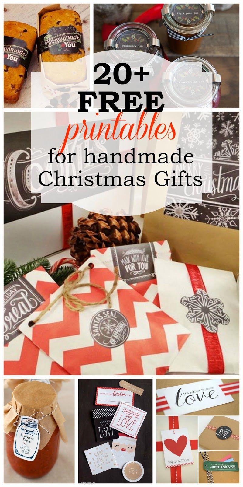 Harris Sisters GirlTalk: 20+ Free Printables for Handmade Christmas Gifts