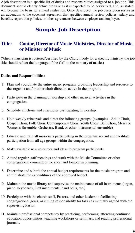 Browse Our Sample Of Church Music Director Job Description Template For Free Job Description Template Job Description Job