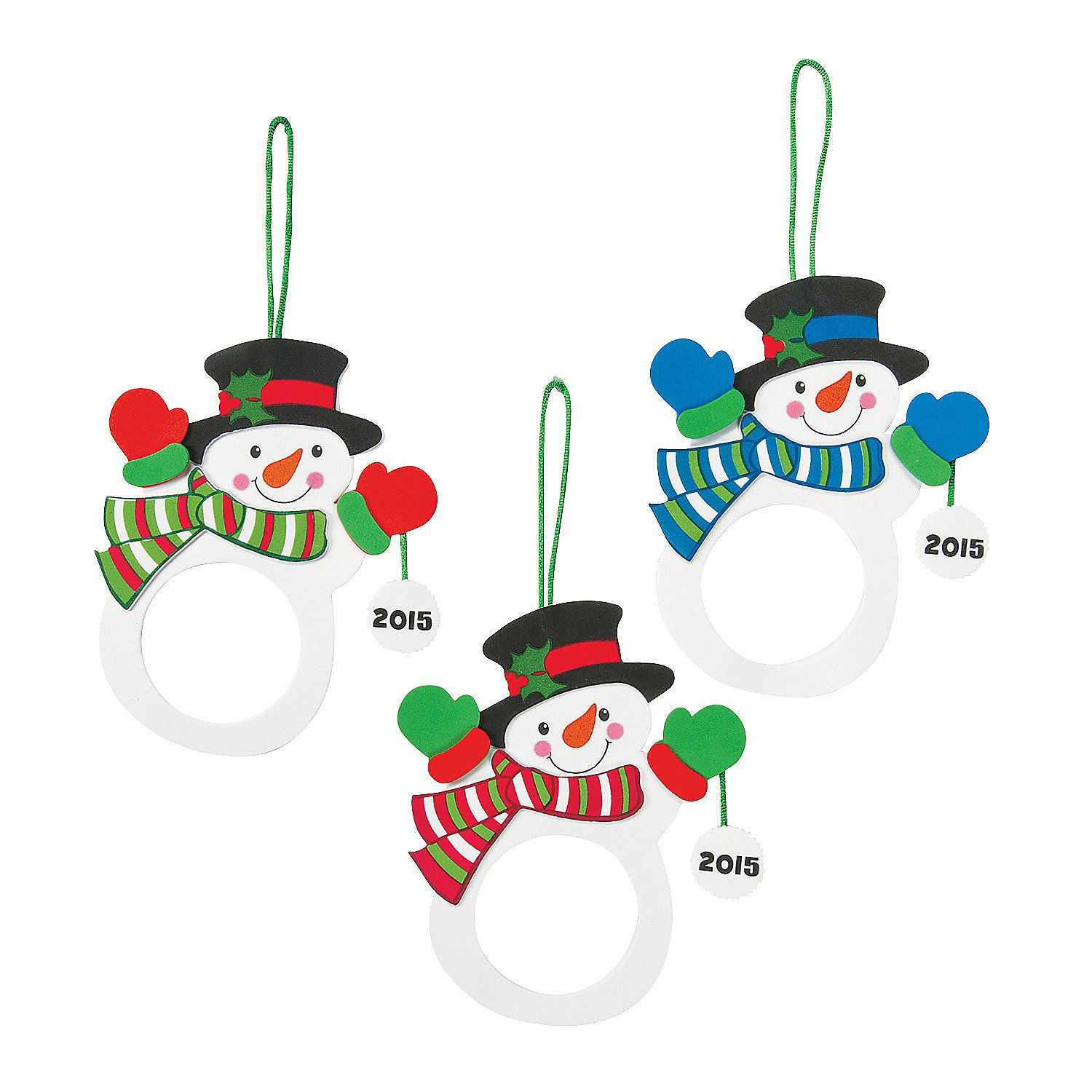 2015 2016 Snowman Picture Frame Ornament Craft Kit Discontinued Picture Frame Ornaments Ornament Crafts Ornament Frame
