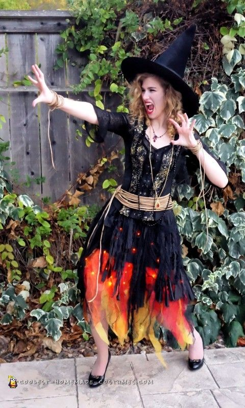 blazing witch on fire costume - Halloween Costume Fire
