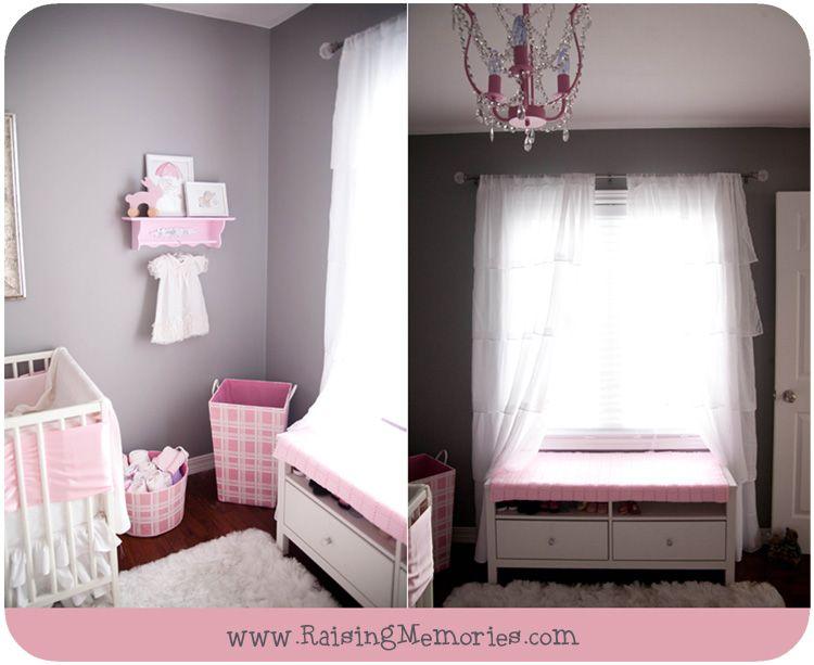 Gray And Pink Baby Girl Nursery Decor By Www.RaisingMemories.com