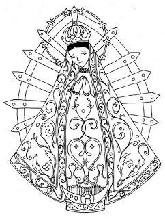 Dibujos Para Catequesis Virgen Maria Virgencitas Virgen De