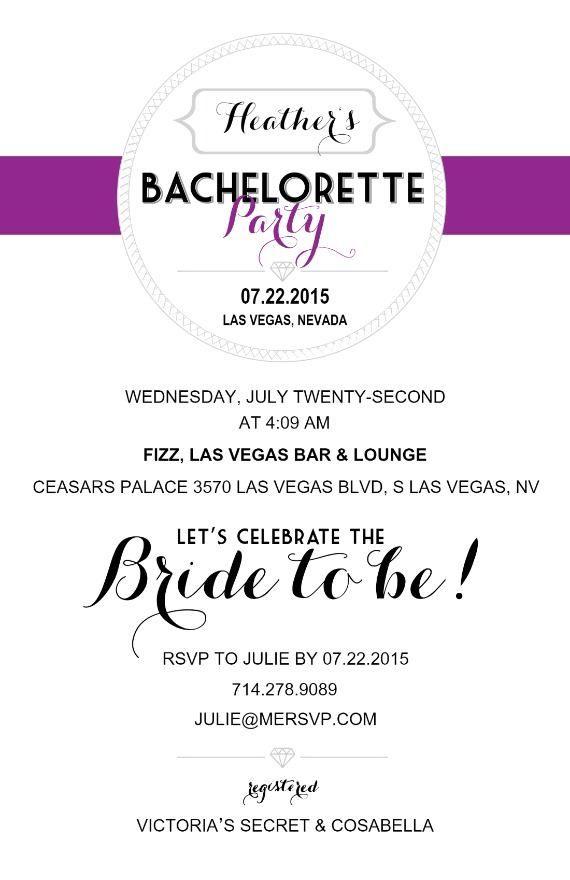 21 Bachelorette Party Invite Wording Ideas | Bachelorette party ...
