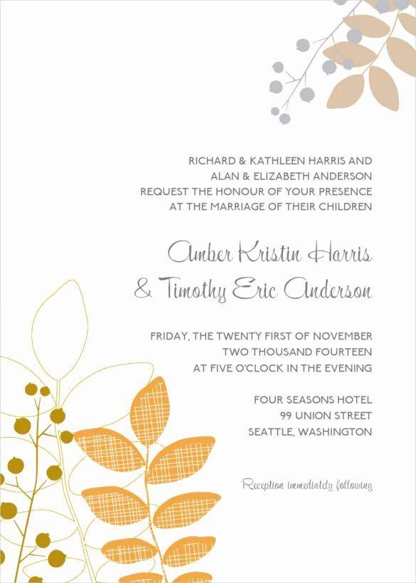 24 Fall Wedding Invitation Templates in 2020 | Fall ...