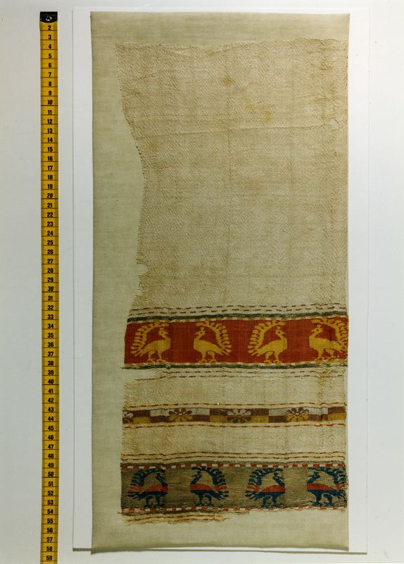 Spain,1191-1310 Textile fragment with peacocks