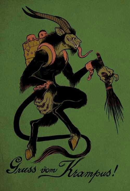 There are worse things than getting coal in your stocking. Some naughty children have to reckon with Krampus!