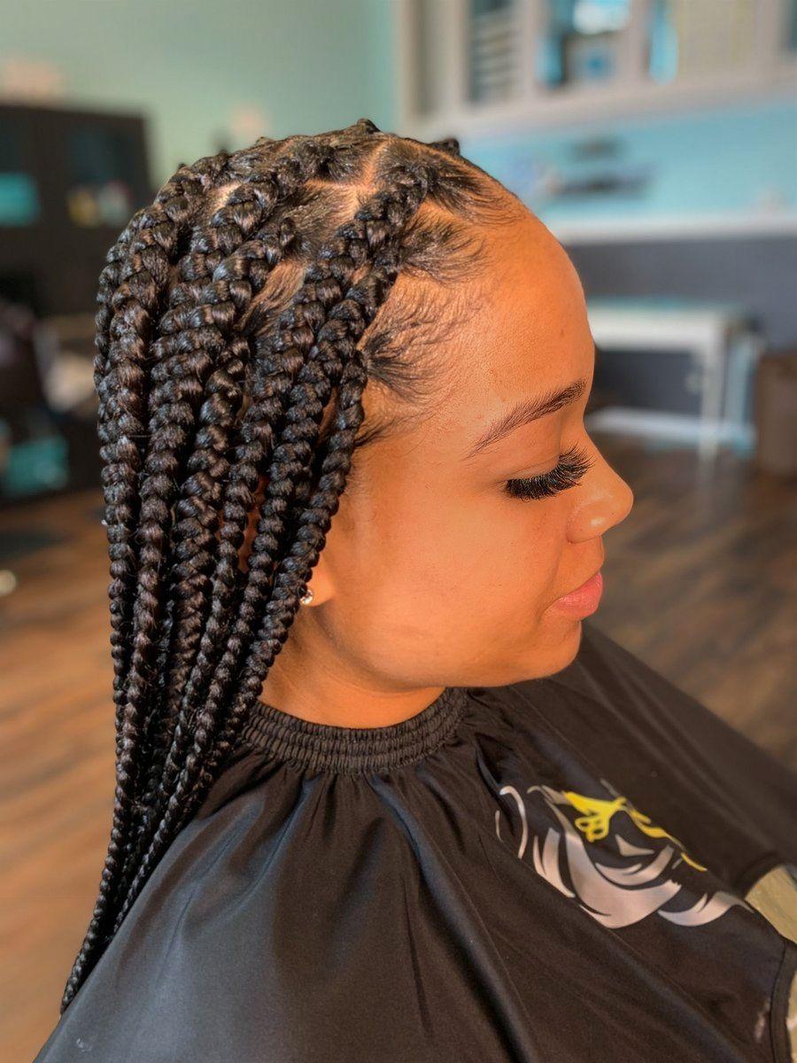 43+ Medium box braids with large parts inspirations