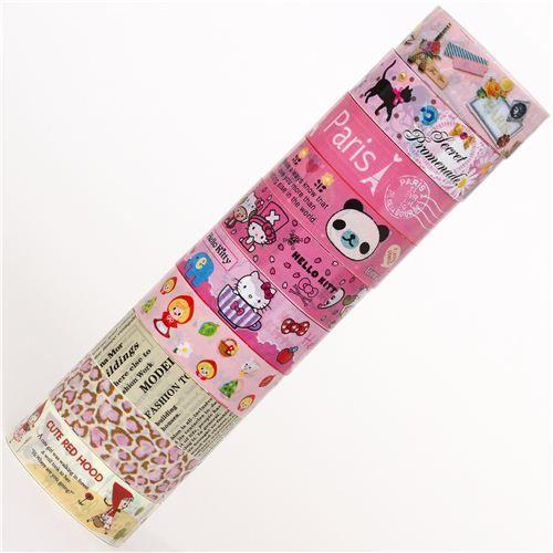 kawaii Deco Tape adhesive tape 10pcs Set 56 1