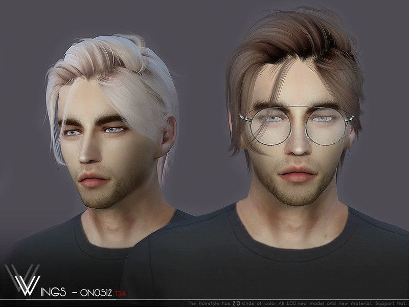 Sims 4 Hairs ~ The Sims Resource: WINGS-ON0512 hair in ...