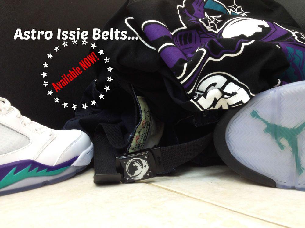 e3309684283a4 ... Black Spaceman Canvas Sneakerhead Belt Wear with Nike Air Jordans  Cargos New eBay ...
