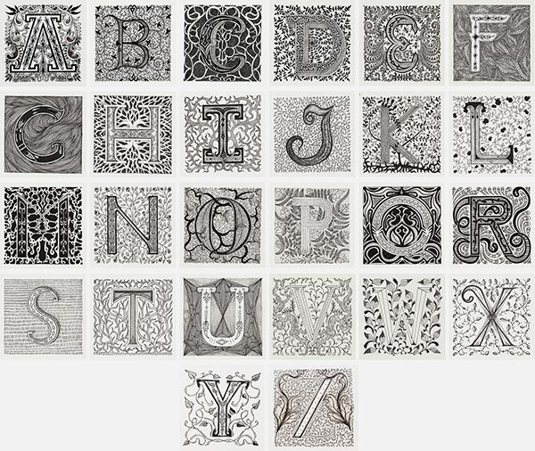 Alphabet SketchBook Project by Meni Chatzipanagiotou