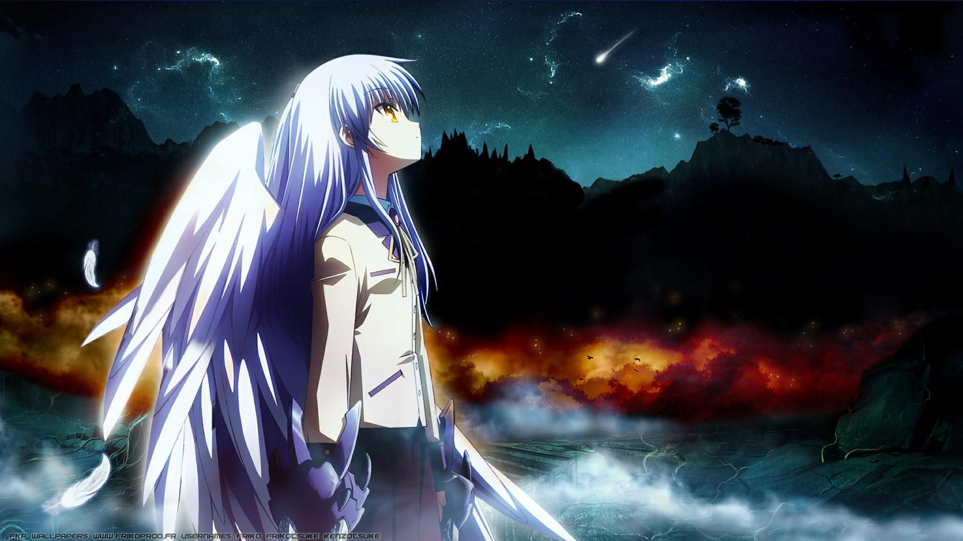 View Download Comment And Rate This 19x1080 Angel Beats Wallpaper Wallpaper Abyss Angel Beats Anime Wallpaper Angel Wallpaper