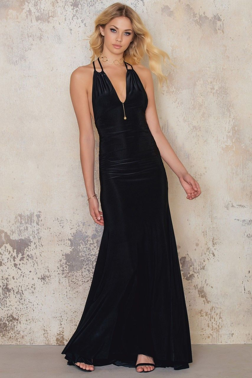 kjole med spaghettistropper